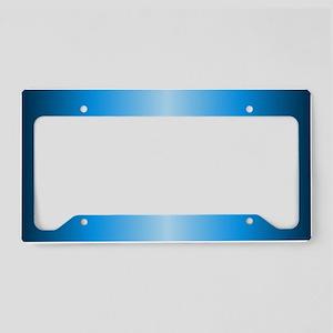 Blue Metallic License Plate Holder