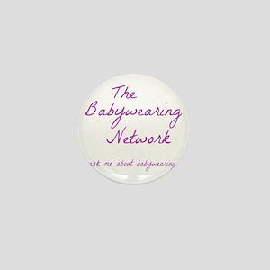 Babywearing Network Logo white Mini Button