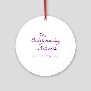 Babywearing Network Logo white Round Ornament