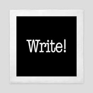 Write! Queen Duvet
