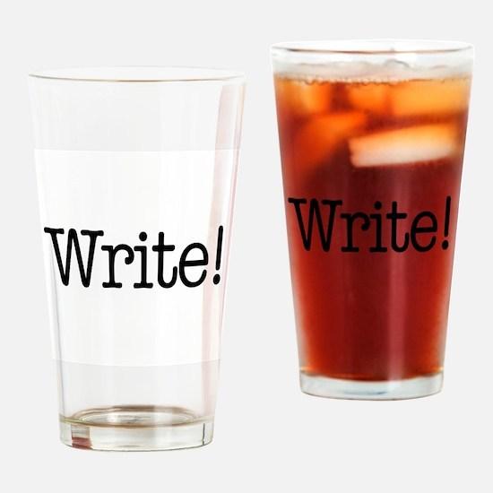 Write! Drinking Glass
