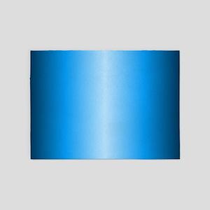 Blue Metallic Shiny 5'x7'Area Rug