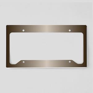 Bronze Metallic Shiny License Plate Holder