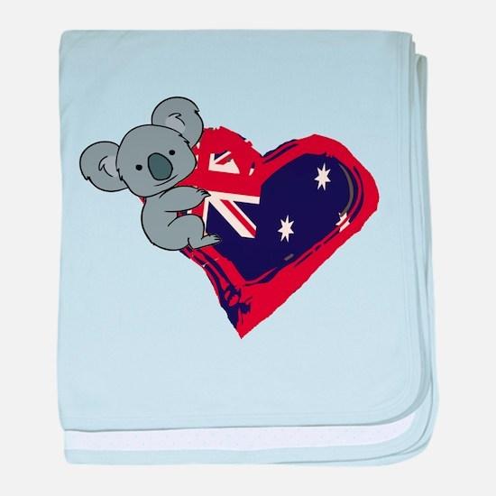 Love Australia - Koala Heart baby blanket
