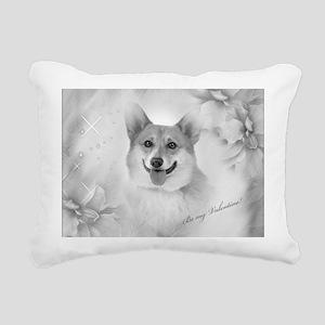 Be my Valentine Corgi Rectangular Canvas Pillow