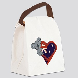 Love Australia - Koala Heart Canvas Lunch Bag