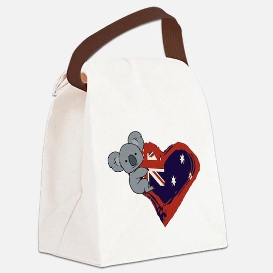 Love Australia - Koala Heart Canvas Lunch Bag