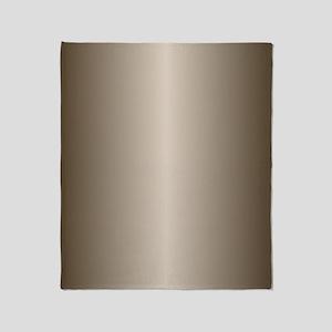Bronze Metallic Shiny Throw Blanket