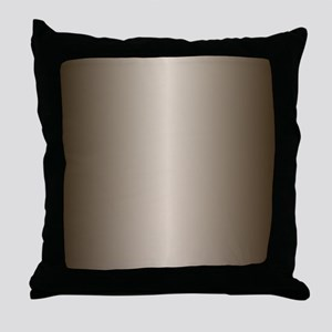 Bronze Metallic Shiny Throw Pillow