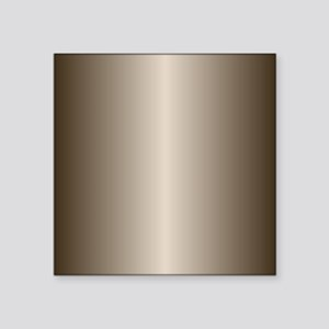"Bronze Metallic Shiny Square Sticker 3"" x 3"""