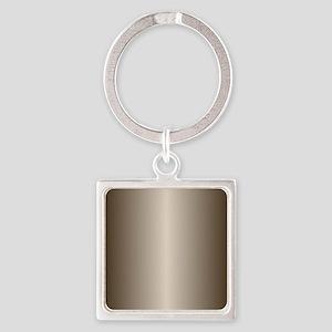 Bronze Metallic Shiny Square Keychain