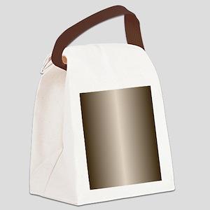 Bronze Metallic Shiny Canvas Lunch Bag