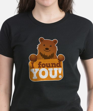 I FOUND YOU love cute grizzly Women's Dark T-Shirt