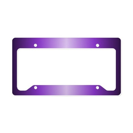 Purple Metallic Shiny License Plate Holder