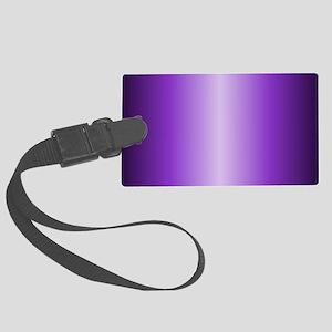 Purple Metallic Shiny Large Luggage Tag