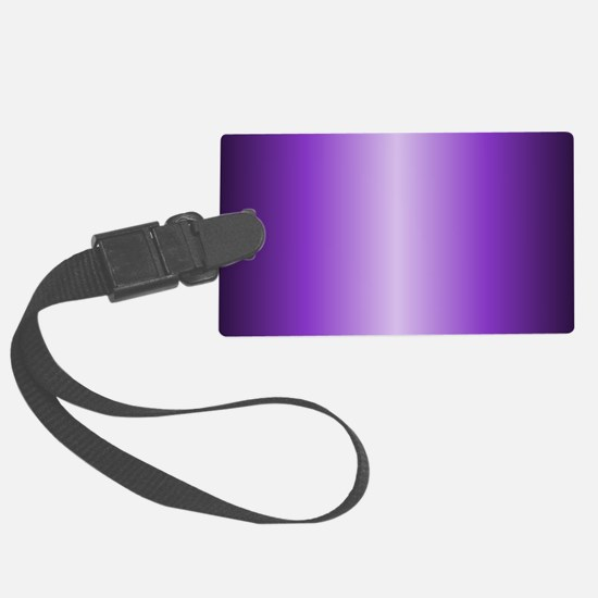 Purple Metallic Shiny Luggage Tag
