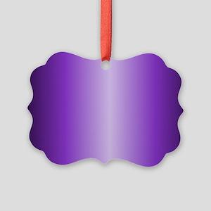 Purple Metallic Shiny Picture Ornament
