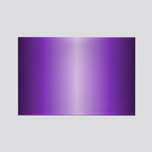 Purple Metallic Shiny Rectangle Magnet