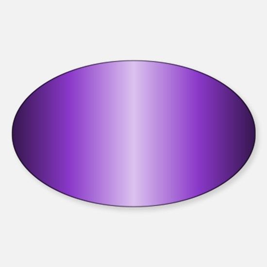 Purple Metallic Shiny Sticker (Oval)