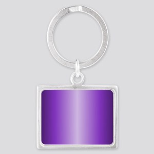 Purple Metallic Shiny Landscape Keychain