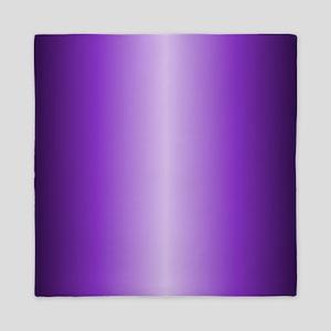 Purple Metallic Shiny Queen Duvet