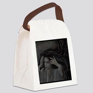 Woman: Light and Dark Reverse Canvas Lunch Bag