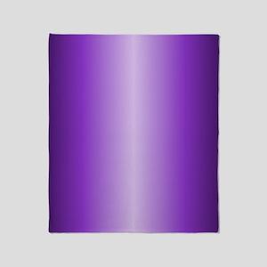 Purple Metallic Shiny Throw Blanket