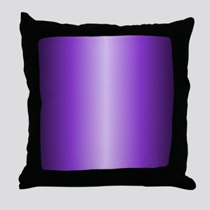 Purple Metallic Shiny Throw Pillow