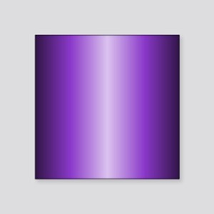 "Purple Metallic Shiny Square Sticker 3"" x 3"""