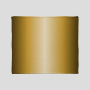 Gold Shiny Metallic Throw Blanket