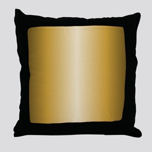 Gold Shiny Metallic Throw Pillow