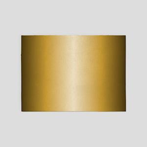 Gold Shiny Metallic 5'x7'Area Rug