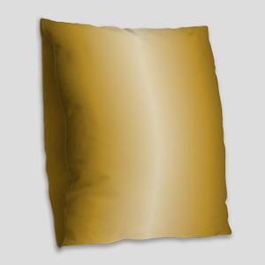 Gold Shiny Metallic Burlap Throw Pillow