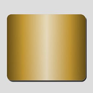 Gold Metallic Shiny Mousepad