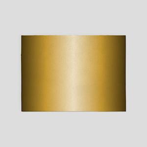 Gold Metallic Shiny 5'x7'Area Rug