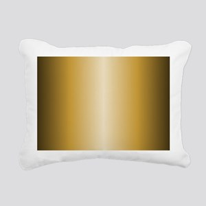Gold Metallic Shiny Rectangular Canvas Pillow