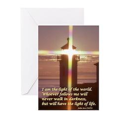 Lighthouse w/ John 8:12 Cards (Pk of 10)