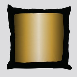 Gold Metallic Shiny Throw Pillow
