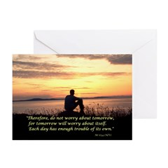 Contemplation w/Mt 6:34 ~ Cards (Pk of 10)