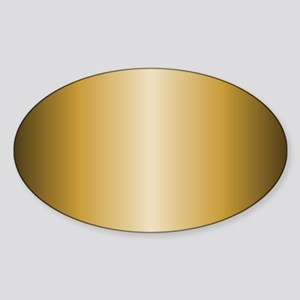 Gold Metallic Shiny Sticker (Oval)