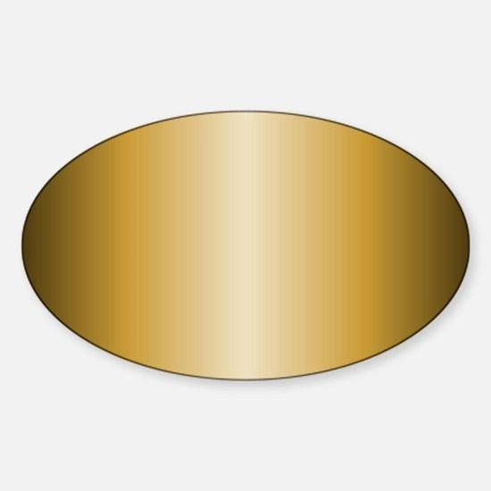 Gold Metallic Shiny Sticker (Oval)