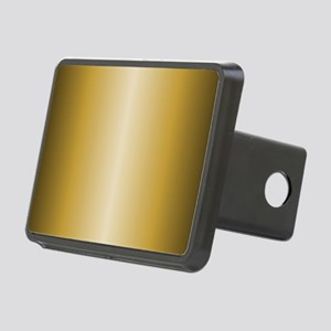 Gold Metallic Shiny Rectangular Hitch Cover