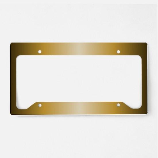 Gold Metallic Shiny License Plate Holder