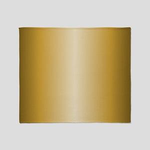 Gold Metallic Shiny Throw Blanket