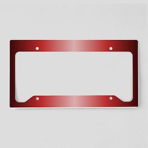 Red Metallic Shiny License Plate Holder