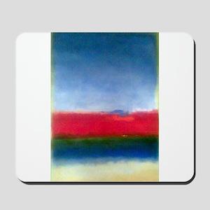 Rothko RED WHITE BLUE Mousepad