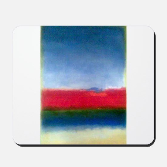 Rothko RED WHITE BLUE Mousepad