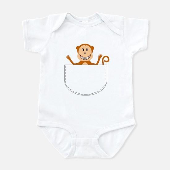 Monkey pocket pal Infant Bodysuit