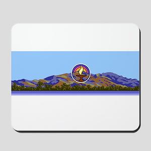 Mission Peak mountains logo Mousepad