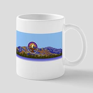 Mission Peak mountains logo Mugs